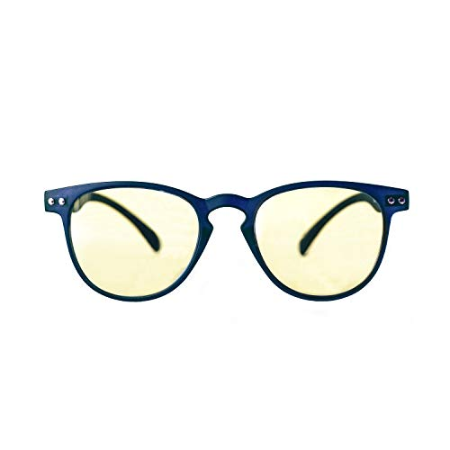 Kura Lens Lunettes PC, TV, Gaming, Confort visuel, Contre fatigue oculaires, Monture légère, Réduction de la lumière bleue 49% et UV 100% bleu bleu