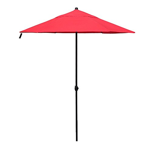 APEX LIVING 7.5 Feet Garden Patio Umbrella Market Outdoor Table Umbrella with Carry Bag Red by APEX LIVING