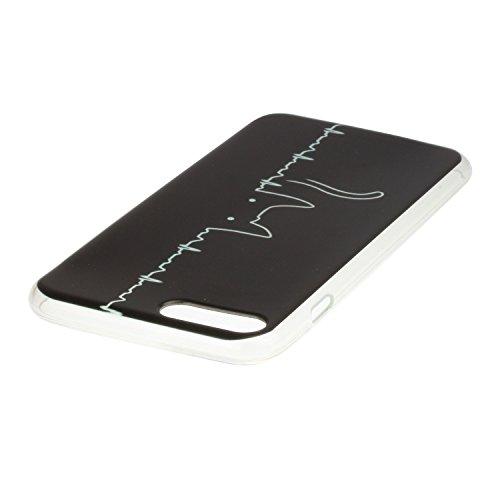 Voguecase Für Apple iPhone 7 Plus 5.5 hülle, Schutzhülle / Case / Cover / Hülle / TPU Gel Skin (Katze / EKG) + Gratis Universal Eingabestift