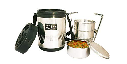 ORLO Stainless Steel Insulated thermoware Lunch/Tiffin Box 4 Containers