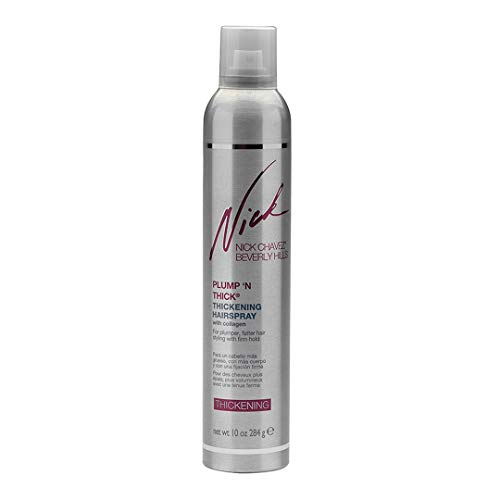 Nick Chavez Beverly Hills Advanced Plump 'N Thick Thickening Hairspray - Hair Thickener For All Hair Types - Increase Hair Volume And Strengthen Hair - 10 Oz.