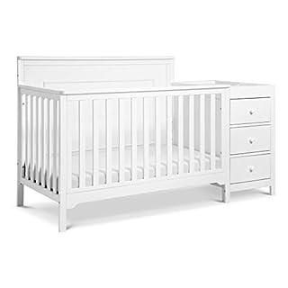 Carter's by DaVInci Dakota 4-in-1 Crib and Changer Combo in White, Greenguard Gold Certified