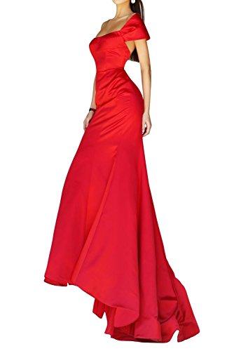 Bride Abendmode Violett Schulter Satin Gorgeous Mermaid Lang Packung Festkleid Stil Elegant Abendkleid Onqvfad