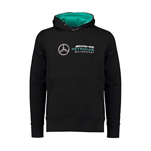 Mercedes AMG Petronas Mens Hoodie Black 2018 XL Black