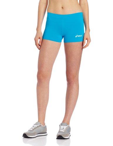 ASICS Women's Low Cut Short, Atomic Blue, - Workout Pants Asics