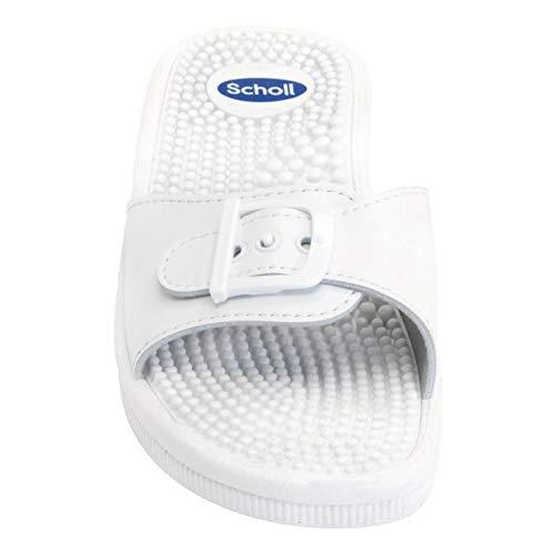 Taglia da colore massaggio bianco Scholl Sandali 42 RqOpZxw1