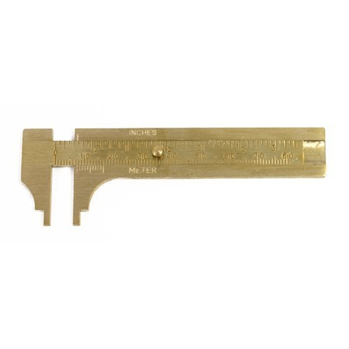 Caliper Jaws - Solid Brass Measuring Caliper Gauge 80MM Notched Jaws - SFC Tools - 35-156