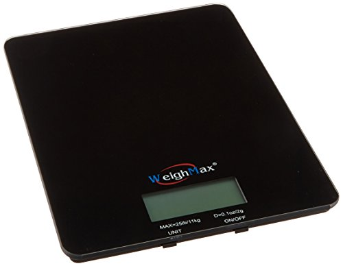 Weighmax GB25 Tempered Glass Digital Mailing and Food Kitche