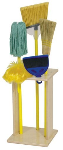 Steffy Wood Products Housecleaning Set and Stand