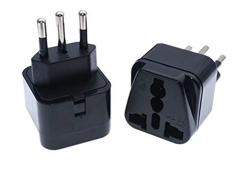 Black Brazilian AC Power Plug Charger UK US EU AU to Brazil 3 Pin Travel Adapter Socket Converter 250V 10A