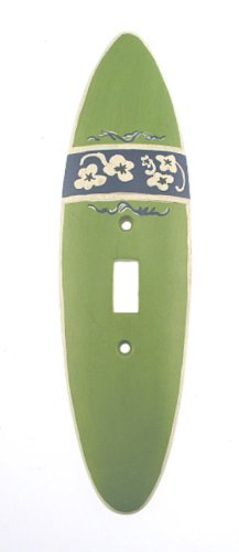 SURFBOARD beach SINGLE SWITCHPLATE COVER surf board NEW