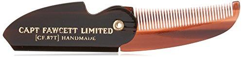 Captain Fawcett's Folding Pocket Moustache Comb - CF.87T - Made in England -