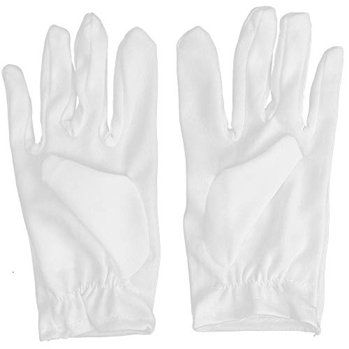 Skeleteen White Child Costume Gloves - Formal Kids Size Wrist Glove Set for Boys and Girls