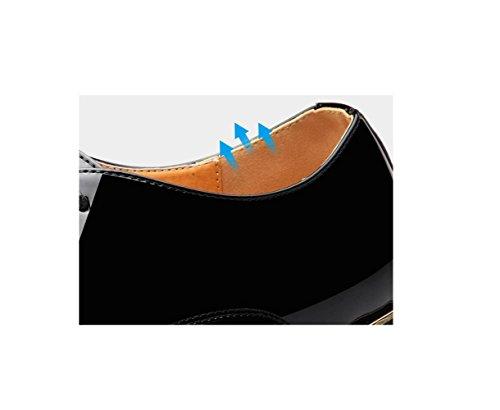 Business Rete da Traspiranti Uomo Tonda Bean A Blue Scarpe da Pigro Casual Scarpe Morbido Oxford Punta Fondo Scarpe HqxwFndA