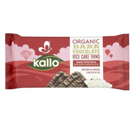 Kallo Dark Choc Rice Cake Thins 90G (Pack Of 5)
