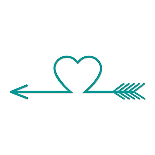 (Applicable Pun Arrow Heart Archery - Vinyl Decal for Outdoor Use on Cars, ATV, Boats, Windows and More - Turquoise 5 inch )