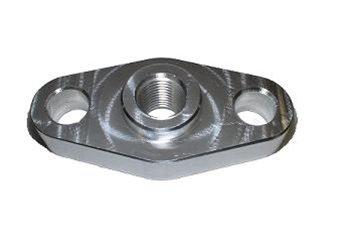 Oil Inlet Flange - Torque Solution Billet Oil Feed Inlet Flange: Universal T3/T4 Turbos