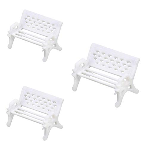 Newkelly Bench Craft Fairy Dollhouse Decor Hot sale 3 pcs Mini Garden Ornament Miniature Park Seat from NewKelly Lunch Bag
