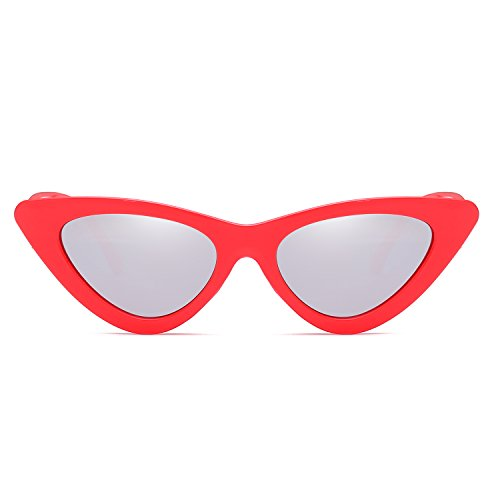 Blue Rojo Glasses Eyewear Small UV400 Cat Size Lens Sunglasses Eye Sun Frame Women Fashion New Green Reb Triangle TPAwfqT