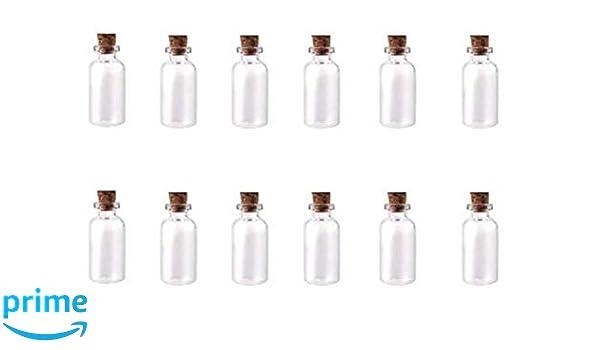 145b4501afd3 Amazon.com: ASTRQLE 24PCS 16x23mm Clear Mini Small Tiny Glass ...