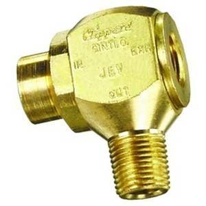 "Clippard JEV-F2M2 J-Series Quick Exhaust Valve, 90 Degree Orientation, 1/8"" NPT Male Thread"