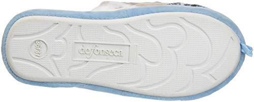 Retro Roma Azzurro Donna Pantofole Top Aperte W453 sul Fonseca De Pxq07v4B