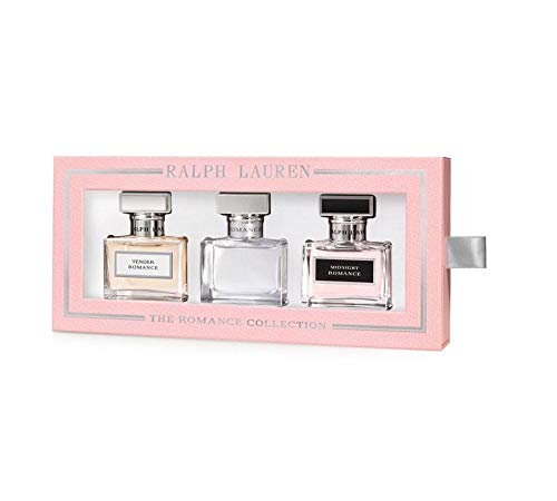 The Romance Collection Ralph Lauren Eau de Parfum Spray Set: Romance + Midnight Romance + Tender Romance $168 VALUE (Ralph Lauren Romance Perfume Collection For Women)