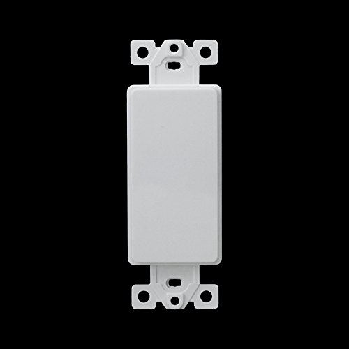 FYL Decorator Blank Insert/Adapter Plate for Decorator Wall Plate/Cover/Face Plate (Type Toggle Wall Plate)