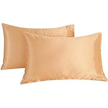 Amazon Com Cocosilk Standard Silky Satin Pillowcase Set