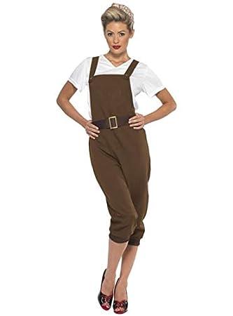 Smiffys Disfraz de Segunda Guerra Mundial marrón para Mujer ...