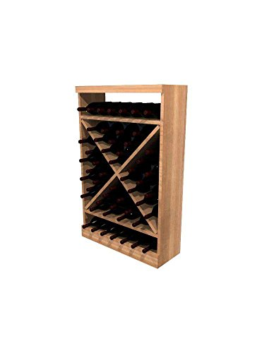 - Winemaker Series Wine Rack - Solid Diamond Cube - 3 Ft - Pine Unstained
