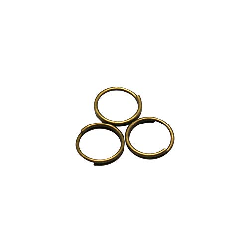 (B.D craft 5000pcs 5mm Diameter Antique Bronze Double Snap Split Rings, Brass Double Loop Jump Rings, Solid Circle Lures Connectors for Connecting Jewelry)
