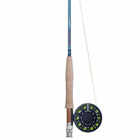 Redington Crosswater Outfit Reel, Line Weight-5, 9-Feet, 4-Piece, Blue (Fly Fishing Redington)