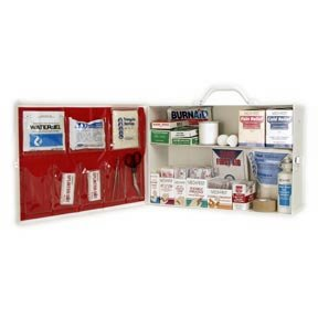 FIRST AID KIT INDUSTRIAL 2 SHELF OSHA APPROVED FILL (Garage First Aid Kit)