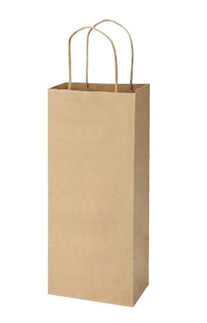 525quotx325quotx13quot50 pcs Bagsource Brown Kraft Paper Wine Bags 95% Post Consumer Materials amp FSC Certified