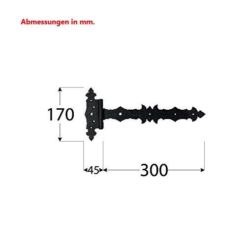 Kreuzgehänge Scharnier Bänder Holzverbindung T-Scharniere T-Bänder 1