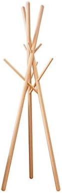 コートスタンドコートラックソリッドウッドフロアリビングルームクリエイティブハンガーベッドルームシェルフシンプルモダン洋服ラックブナ、灰、竹(色:竹)