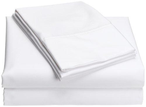 Wamsutta Comfort Soft 400-Thread Count Queen Sheet Set, White (Cotton Wamsutta Sheets Egyptian)