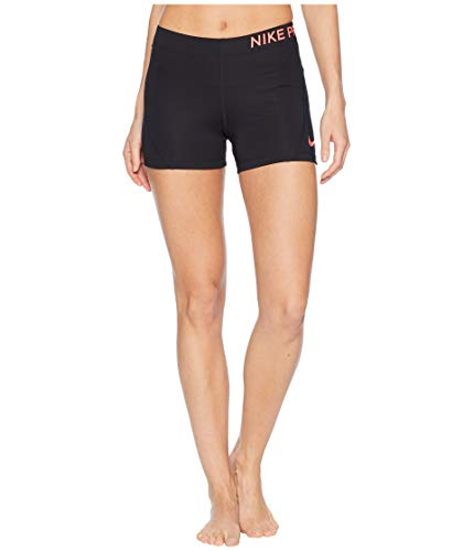 Pro Nike Core - NIKE Women's Pro 3IN Short Black/Racer Pink Size Small