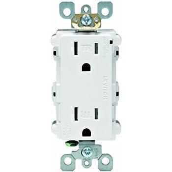 Leviton 5280 W 15 Amp 125 Volt Decora Plus Duplex Surge Suppressor