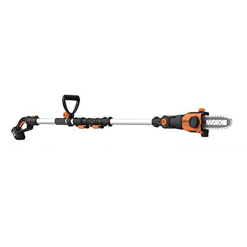 WORX 2-in-1 Attachment Capable WG349 20V Pole Saw, Black and Orange