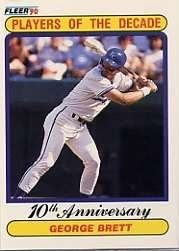 - 1990 Fleer #621 George Brett 1980 Kansas City Royals Baseball Card