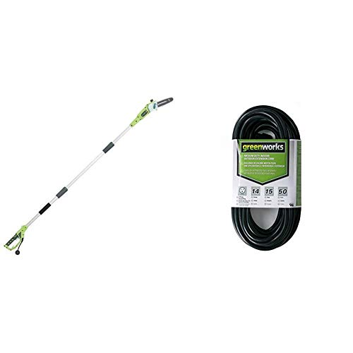 Greenworks 8-Inch 6.5 Amp Corded Pole Saw 20192 with...