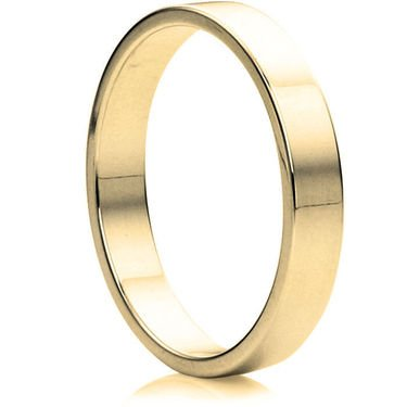 Wedding Rings Direct 4mm 18ct Yellow Flat Wedding Ring 43g O 1