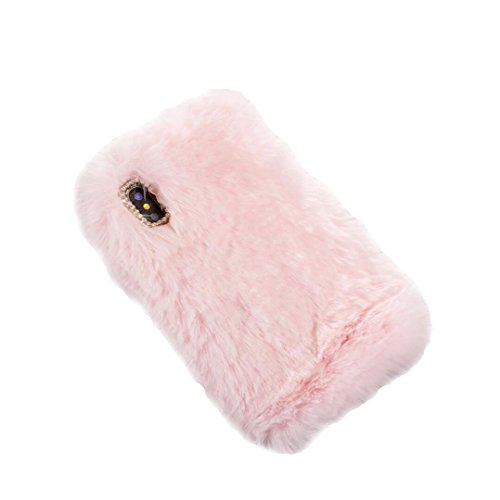 iPhone 10 Case,iPhone X Case,iPhone 10 Case,iPhone X Case For Girls,Jesiya Shiny Crystal Cycle Bling Diamond Bowknot Cover Rex Rabbit Fur Hair Plush Back Flexible Soft Fuzzy Furry Case For iPhoneX Bowknot Rabbit