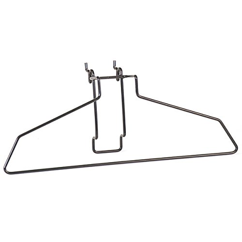 KC Store Fixtures A03082 Hanger Fits Slatwall, Grid, Pegboard, 17'', Black (Pack of 20)