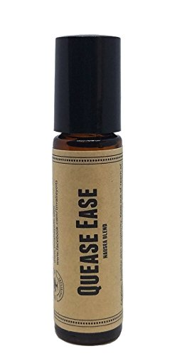 Quease Ease Pre-Diluted Essential Oil Roll-On Blend 10ml (1/3oz) | Nausea, Motion and Morning Sickness, Hangover, Vomiting