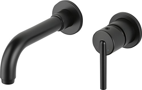 Delta Faucet T3559LF-BLWL Trinsic Single Handle Wall Mount Lavatory Faucet Trim, Matte Black ()