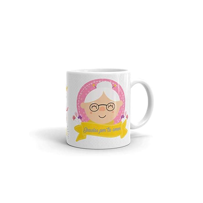 31NQpXH9bZL ✅ACCESORIO DIVERTIDO: Ahora la Abuela puede disfrutar de una taza de café o té caliente en una taza de cerámica elegante que hará que todas las mañanas sean más fáciles y relajantes. ✅GRAN REGALO: La taza la Abuela es un excelente regalo para Navidad, cumpleaños, aniversario, dia del padre... esas bonitas tazas son una forma maravillosa de expresar su respeto y admiración hacia su Abuelo. Regalos originales que transmiten a nivel emocional, tu abuela quedara sorprendido. ✅CALIDAD PREMIUM: La bonita taza de regalo para abuela está hecha completamente de cerámica con materiales resistentes y duraderos. Las tazas de café son aptas para el lavavajillas y microondas, así puede ahorrar tiempo y energía en la mañana preparando su bebida favorita.