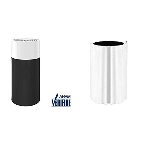 Blueair Blue Pure 411 Air Purifier for Home 3 Stage and Blue Pure 411 Particle and Activated Carbon Replacement Filter